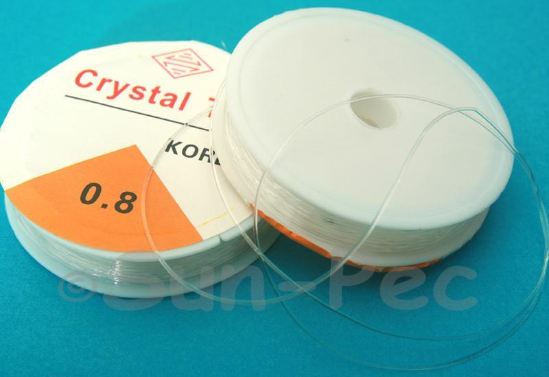 Clear 0.8mm Strong & Stretchy Silicone Elastic Thread 1reel - 4reel