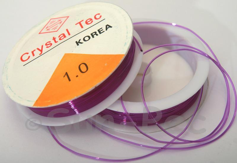 Purple 1mm Strong & Stretchy Silicone Elastic Thread 1reel - 4reel