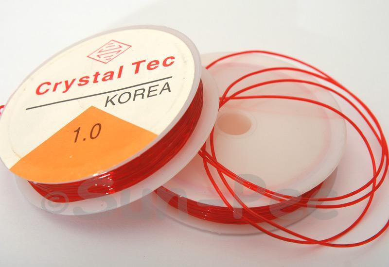 Red 1mm Strong & Stretchy Silicone Elastic Thread 1reel - 4reel