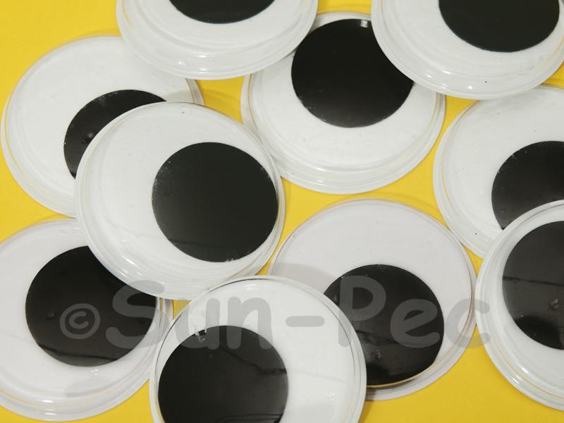 Plain Black 40mm Adhesive Googly Eyes for Crafts/Embellishments 10pcs - 50pcs