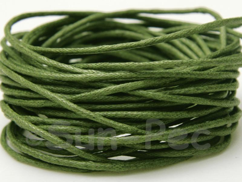 Army Green 1.5mm Smooth Coated Hemp Cord 5m - 50m