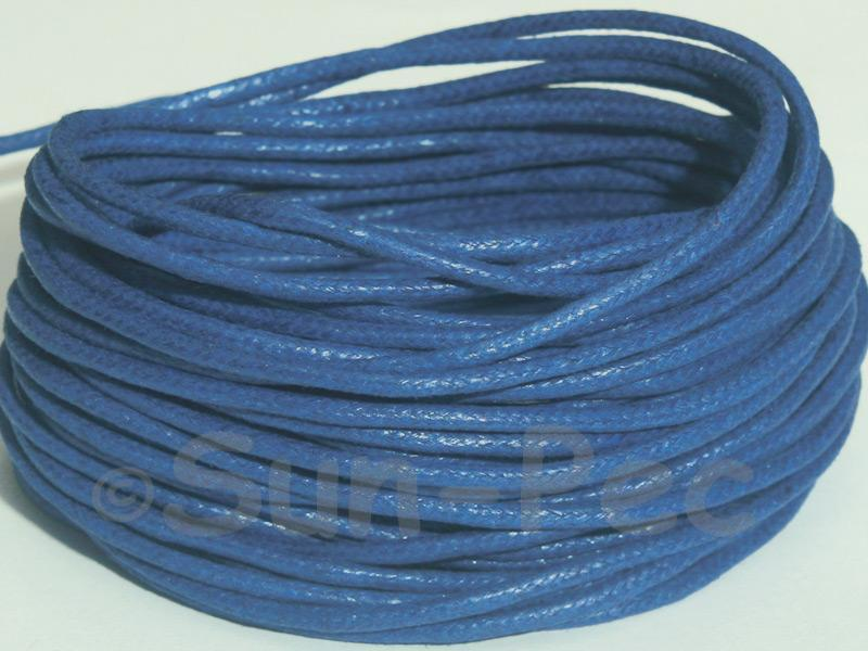 Blue 2mm Smooth Coated Hemp Cord 2m - 50m
