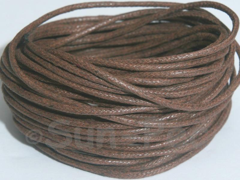 Light Brown 2mm Smooth Coated Hemp Cord 2m - 50m