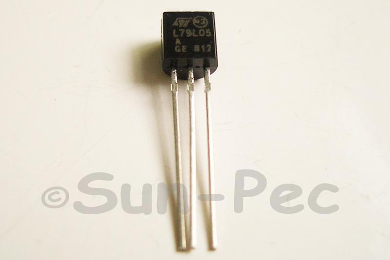 79L05 Voltage Regulator -5V 0.1A 100mA Negative TO92 10pcs - 50pcs