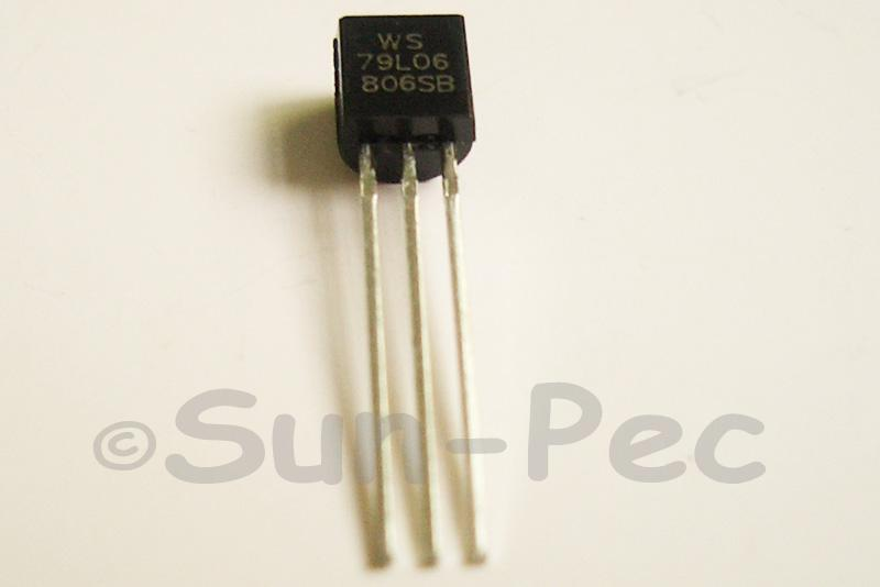 79L06 Voltage Regulator -6V 0.1A 100mA Negative TO92 10pcs - 50pcs