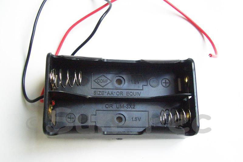 Battery Box with wire 3V AA x 2 1pcs - 8pcs