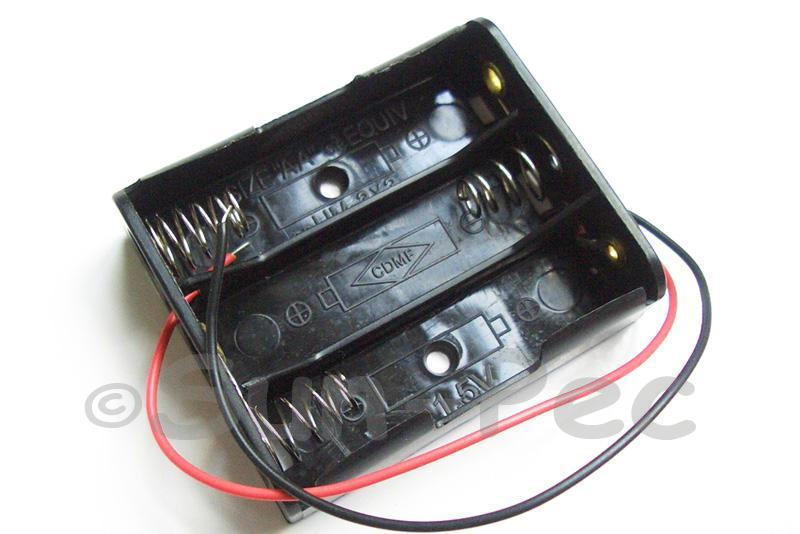 Battery Box with wire 4.5V AA x 3 1pcs - 8pcs