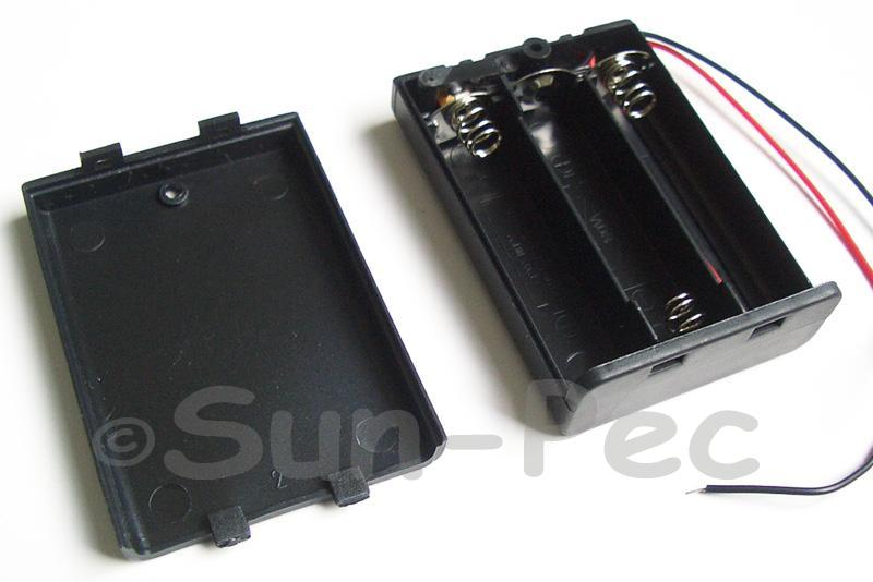 Battery Box with wire and On/Off switch 4.5V AAA x 3 1pcs - 4pcs