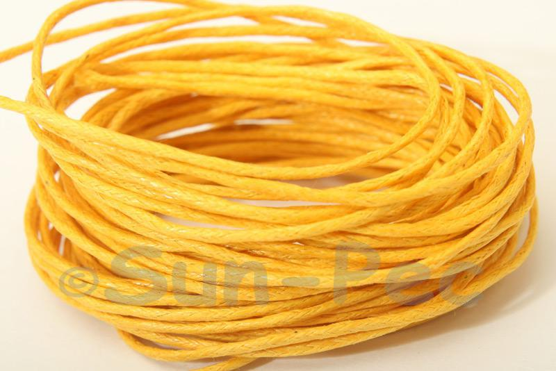 Dark Yellow 1mm Smooth Coated Hemp Cord 5m - 60m