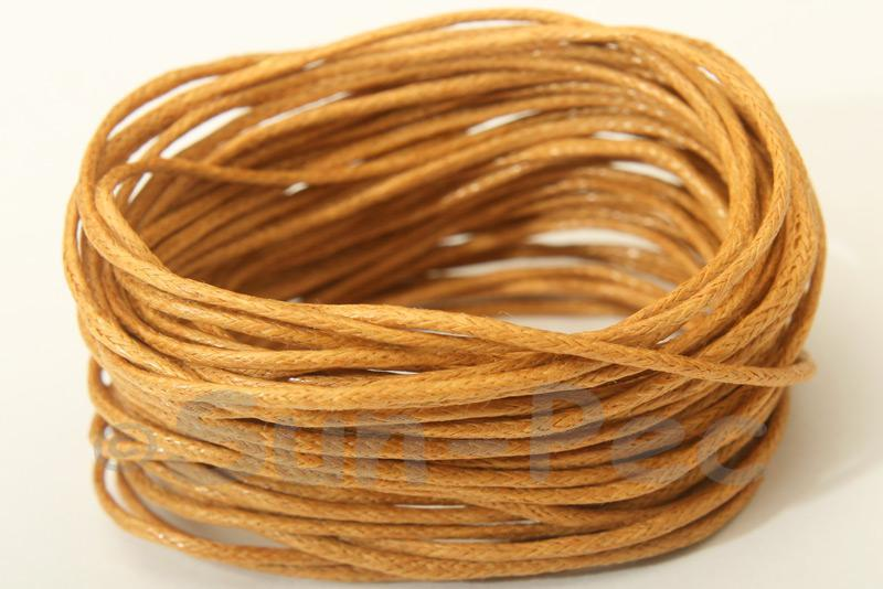 Dusty Yellow 1mm Smooth Coated Hemp Cord 5m - 10m