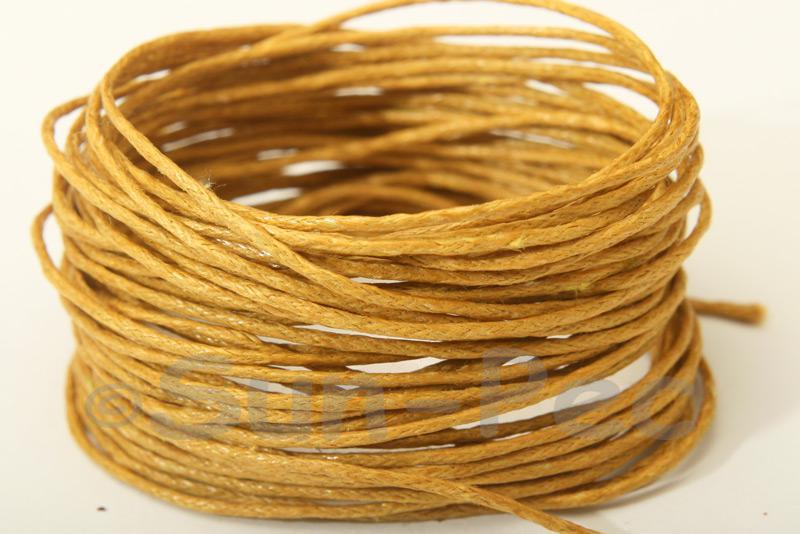 Dusty Yellow 1mm Smooth Coated Hemp Cord 5m - 60m