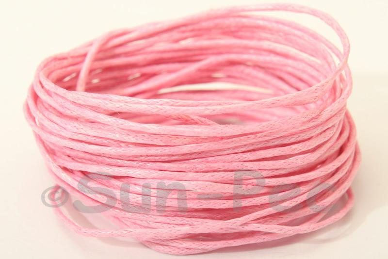 Pink 1mm Smooth Coated Hemp Cord 5m - 60m