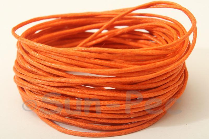 Orange 1mm Smooth Coated Hemp Cord 5m - 60m