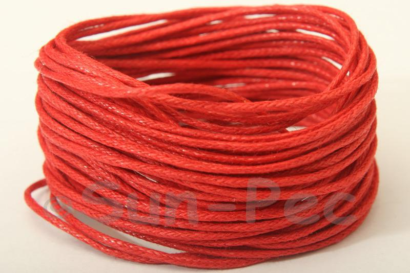 Red 1mm Smooth Coated Hemp Cord 5m - 60m