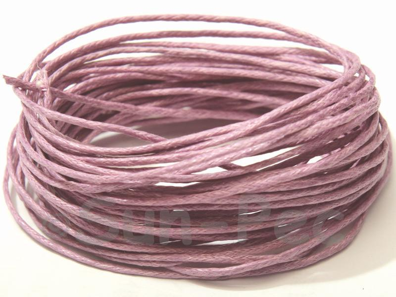 Lilac 1mm Smooth Coated Hemp Cord 5m - 60m