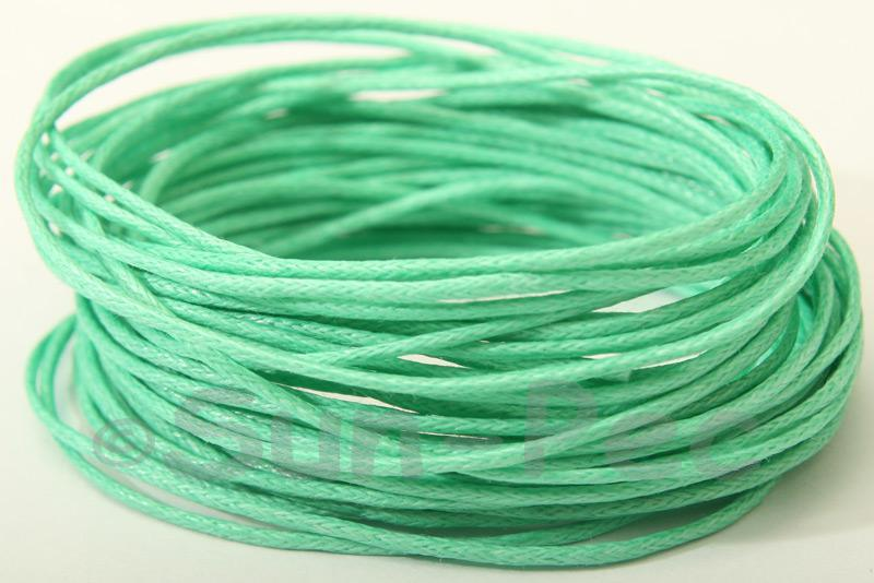 Dark Teal 1mm Smooth Coated Hemp Cord 5m - 60m