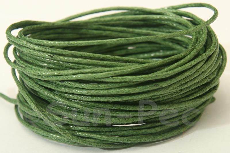 Army Green 1mm Smooth Coated Hemp Cord 5m - 60m