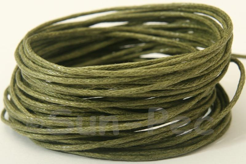 Khaki Green 1mm Smooth Coated Hemp Cord 5m - 60m