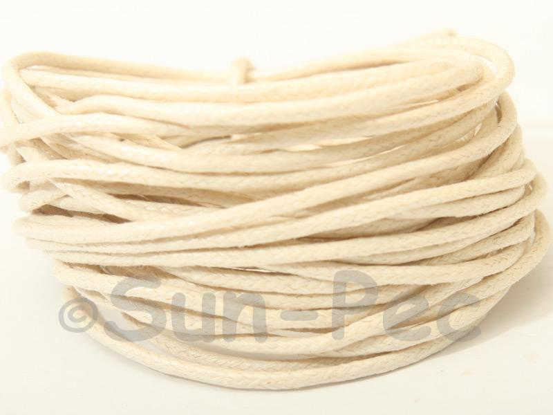 Ivory 1.5mm Smooth Coated Hemp Cord 5m - 50m