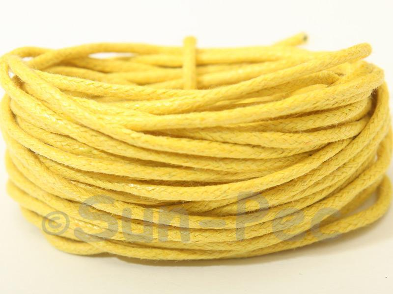 Yellow 1.5mm Smooth Coated Hemp Cord 5m - 50m