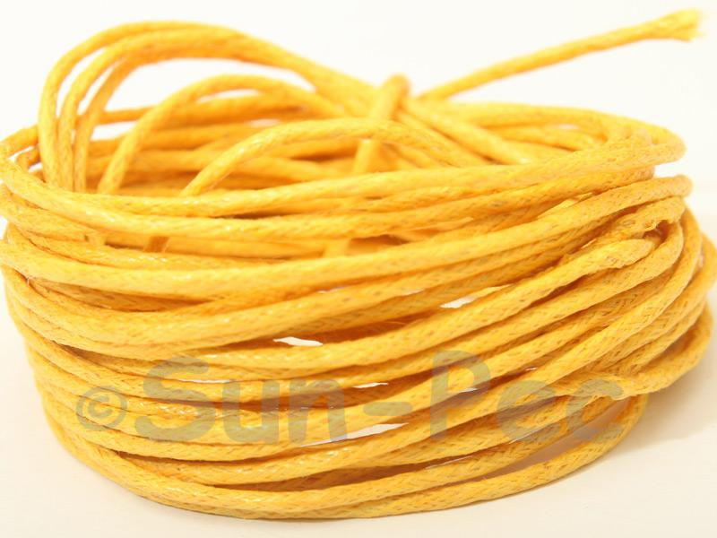 Dark Yellow 1.5mm Smooth Coated Hemp Cord 5m - 50m