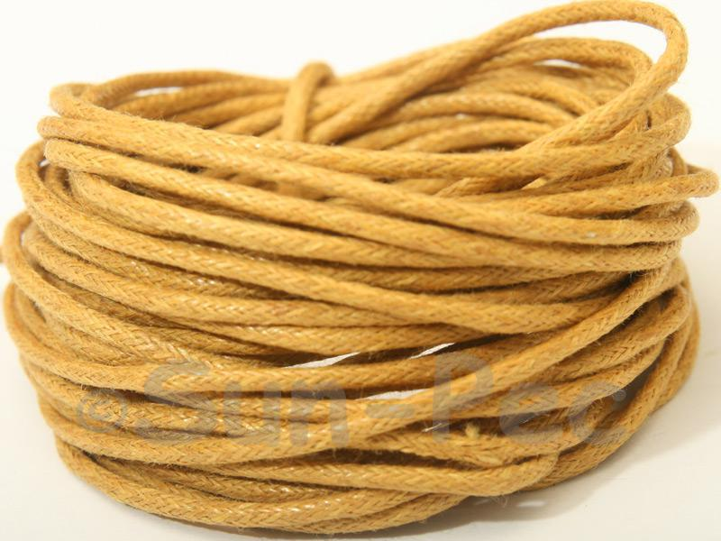 Dusty Yellow 1.5mm Smooth Coated Hemp Cord 5m - 50m