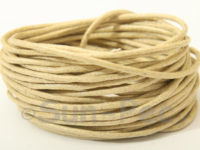 Sandy 1.5mm Smooth Coated Hemp Cord 5m - 50m