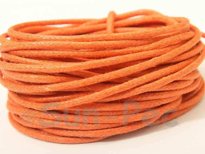 Orange 1.5mm Smooth Coated Hemp Cord 5m - 50m