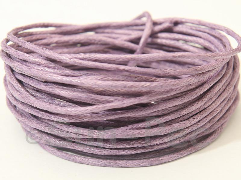Purple 1.5mm Smooth Coated Hemp Cord 5m - 50m