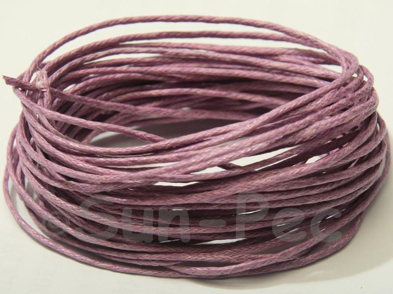 Lilac 1.5mm Smooth Coated Hemp Cord 5m - 50m