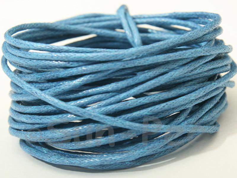 Blue 1.5mm Smooth Coated Hemp Cord 5m - 50m