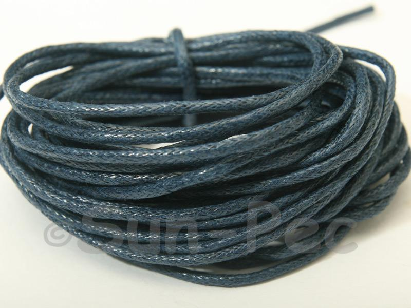 Dodge-Blue 1.5mm Smooth Coated Hemp Cord 5m - 50m