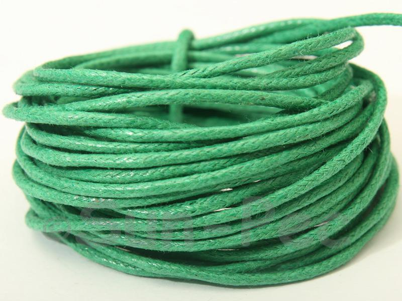 Green 1.5mm Smooth Coated Hemp Cord 5m - 50m