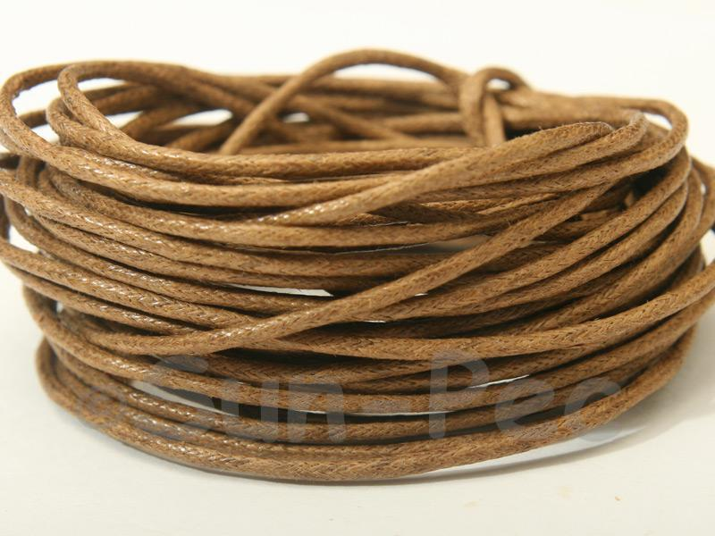 Sepia 1.5mm Smooth Coated Hemp Cord 5m - 50m
