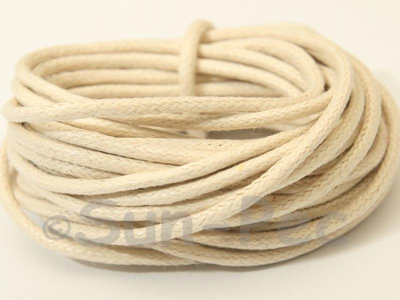 Ivory 2mm Smooth Coated Hemp Cord 2m - 50m