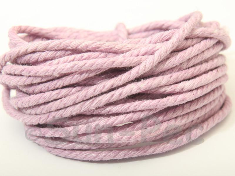 Lilac (Twisted) 2mm Smooth Coated Hemp Cord 2m - 30m