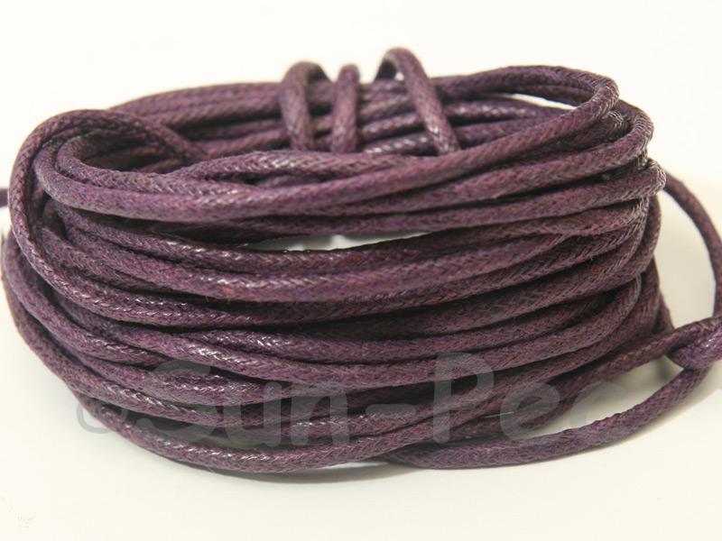 Violet 2mm Smooth Coated Hemp Cord 2m - 50m