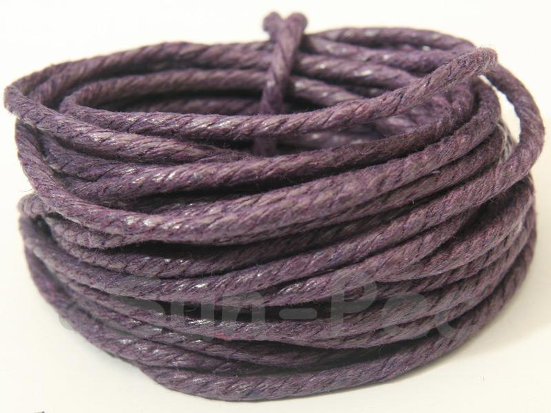 Violet (Twisted) 2mm Smooth Coated Hemp Cord 2m - 50m