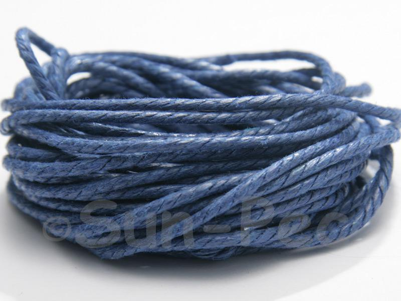 Navy Blue (Twisted) 2mm Smooth Coated Hemp Cord 2m - 40m