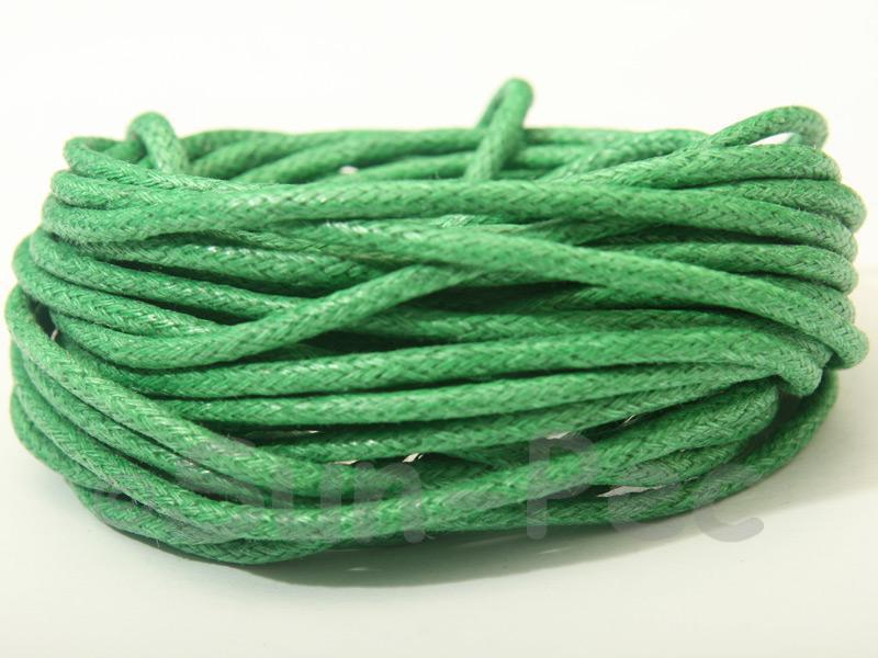 Green 2mm Smooth Coated Hemp Cord 2m - 50m