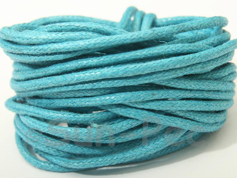 Brilliant Blue 2mm Smooth Coated Hemp Cord 2m - 50m