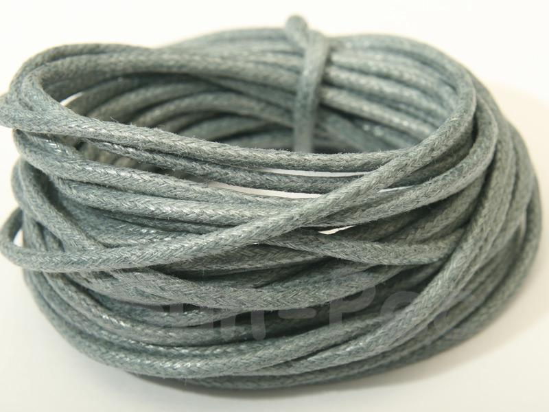 Grey 2mm Smooth Coated Hemp Cord 2m - 50m