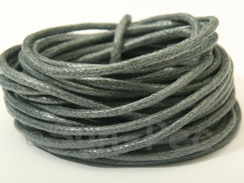 Steel Grey 2mm Smooth Coated Hemp Cord 2m - 50m