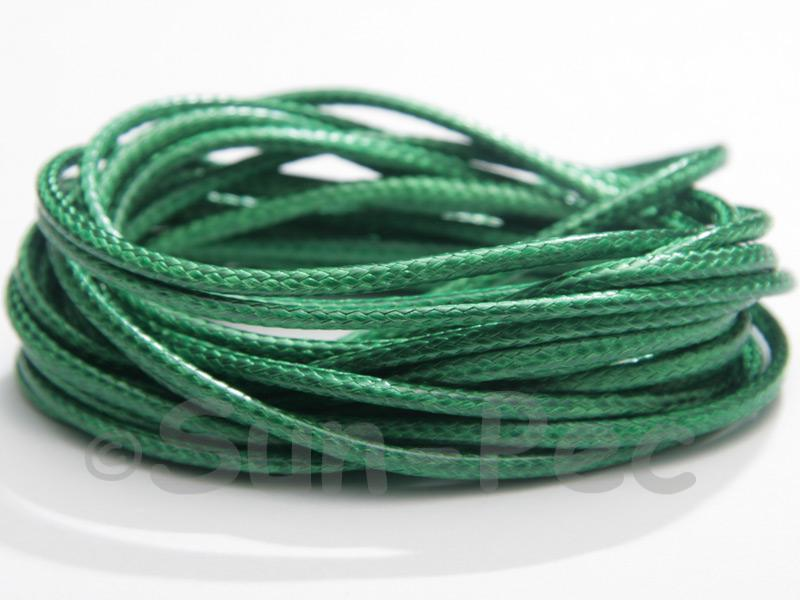 Green 2mm Coated Polyester Cord (snakeskin style) 5m - 20m