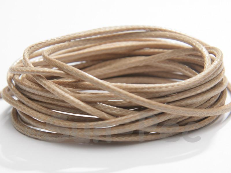 Khaki Brown 2mm Coated Polyester Cord (snakeskin style) 5m - 20m