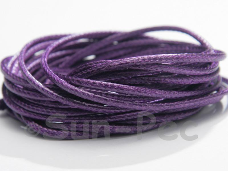 Purple 2mm Coated Polyester Cord (snakeskin style) 5m - 20m