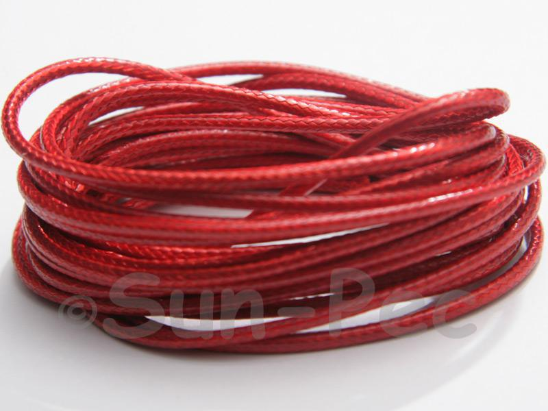 Red 2mm Coated Polyester Cord (snakeskin style) 5m - 20m