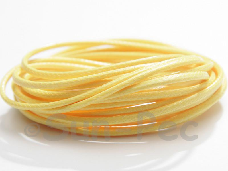Yellow 2mm Coated Polyester Cord (snakeskin style) 5m - 20m