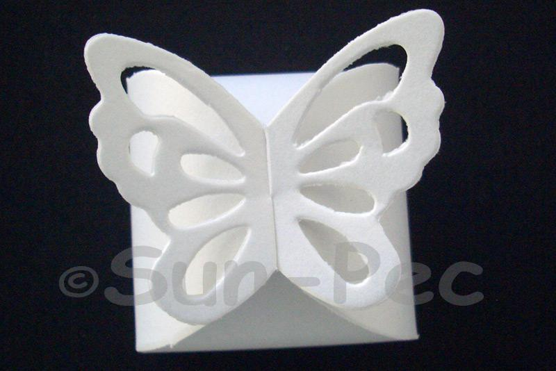 White 6.4cm x 6.4cm Pearl Butterfly Box for Gifts/Favours 4pcs - 20pcs