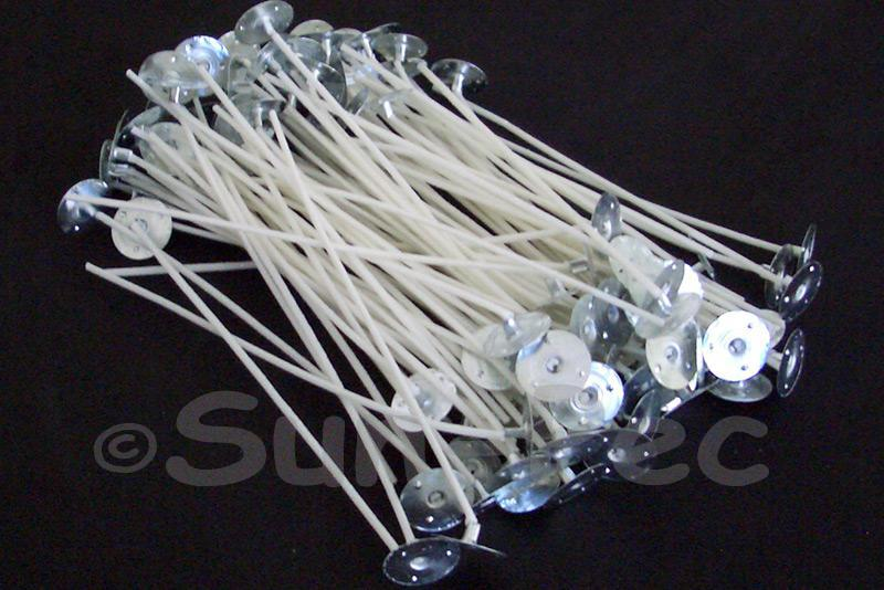 150mm Cotton Candle Wicks with zinc tabs 10pcs - 200pcs